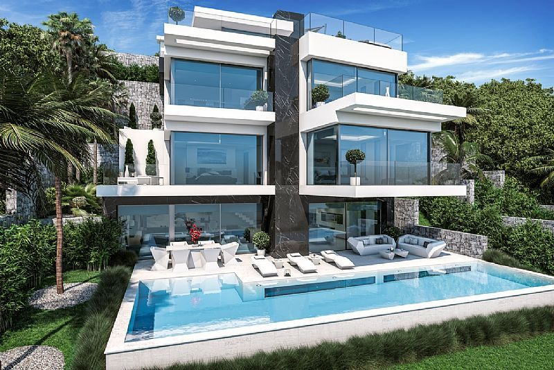 New Construction Villa Modern style for sale with sea view - Javea