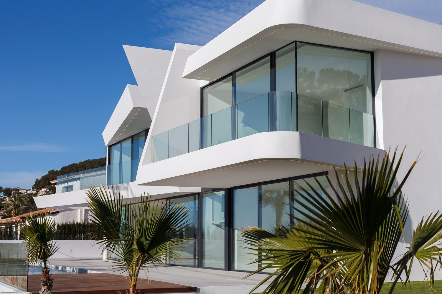 Modern style villa of new construction for sale in Moraira with sea views