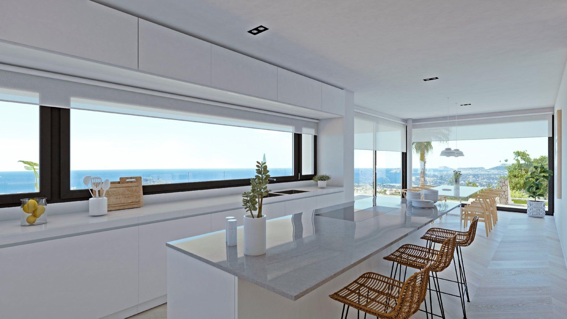 Modern luxury villa for sale in Residencial Jazmines Cumbre del Sol - Costa Blanca