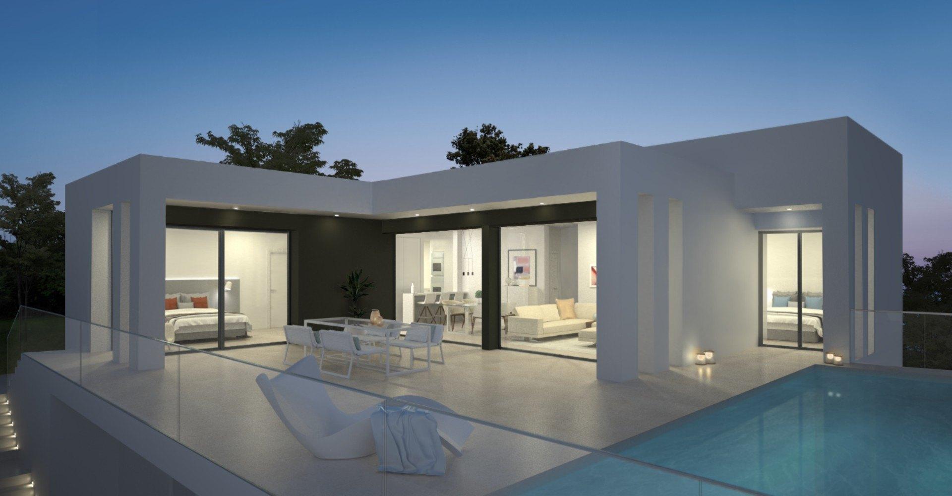 Modern villa in a very private area in Cumbre del Sol - Costa Blanca