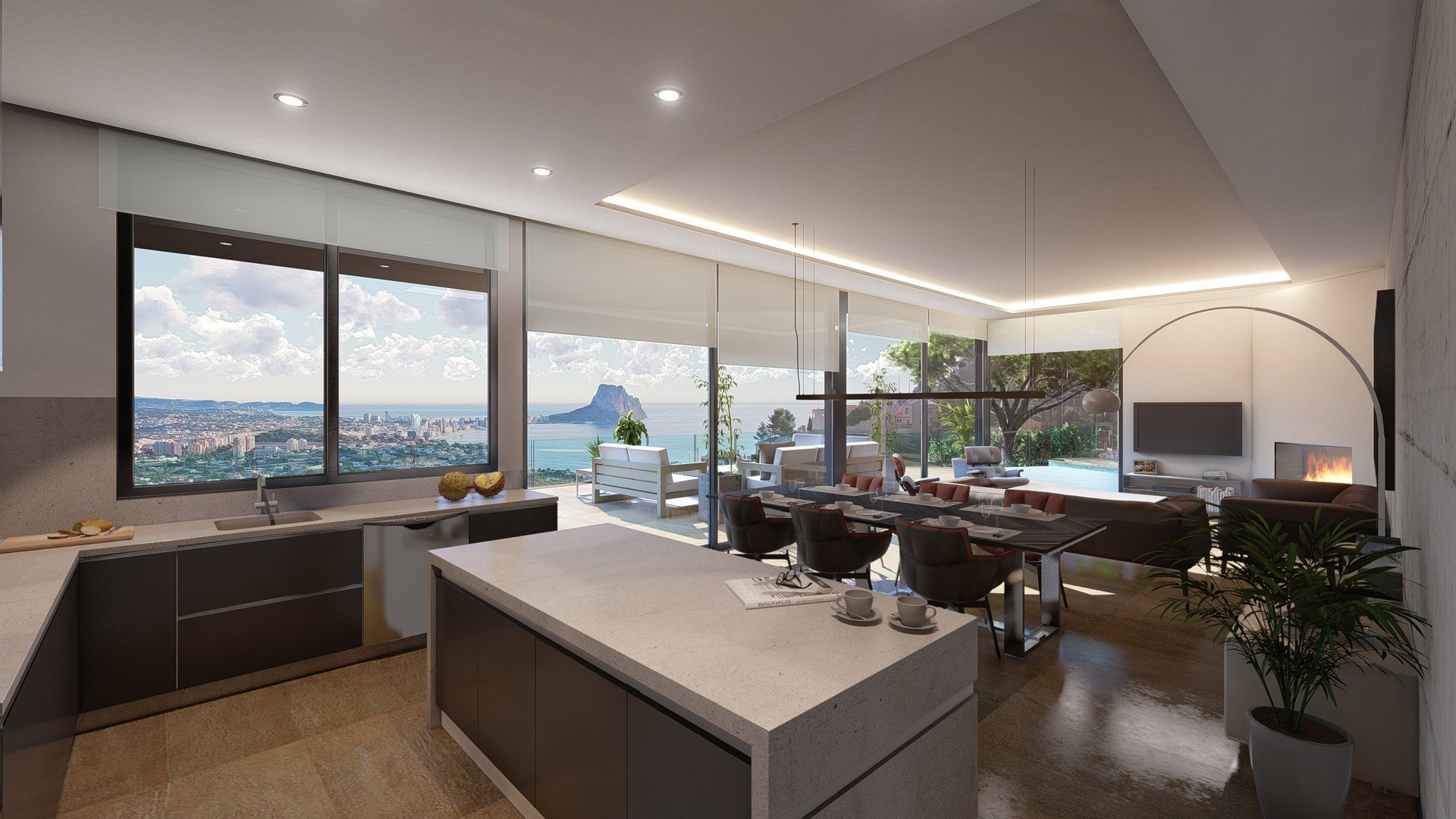 Luxury villa with panoramic sea views in Maryvilla - Calpe - Costa Blanca
