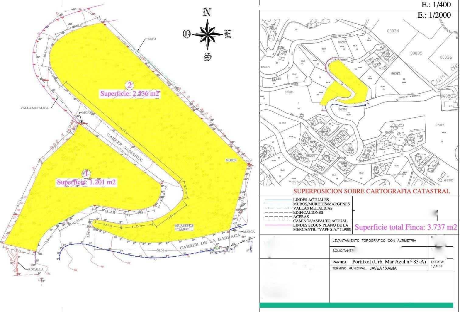 Plot for Sale in Urbanization Mar Azul - Portichol - Javea