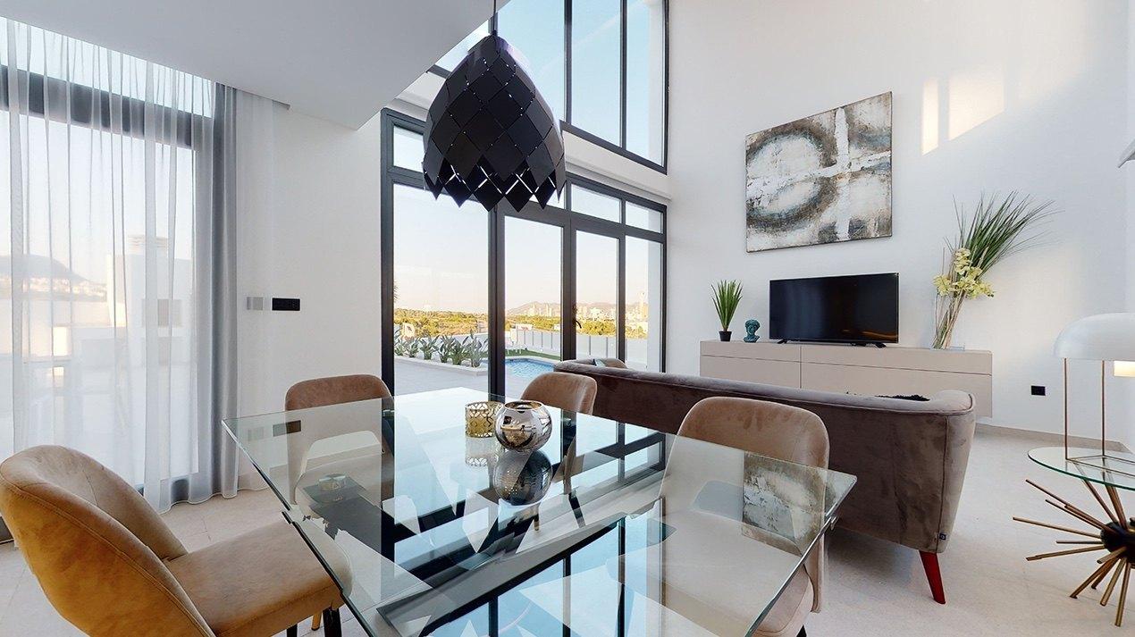 Newly built modern villa with sea views in Finestrat Benidorm - Costa Blanca